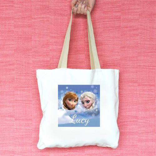 Anna & Elsa Personalised Tote Bag
